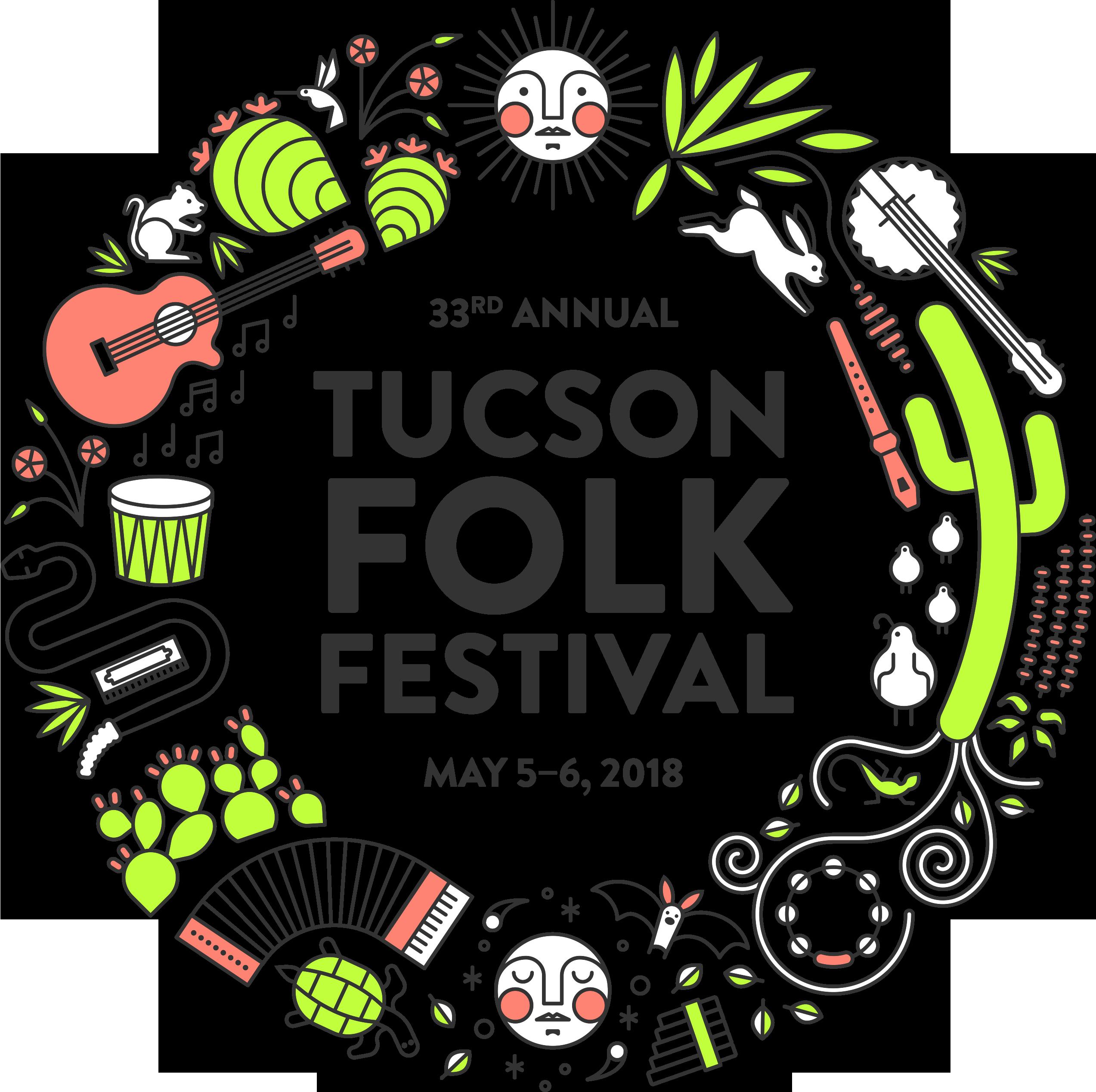 Tucson Folk Festival 2020.Festival Design