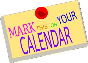 mark you calendar